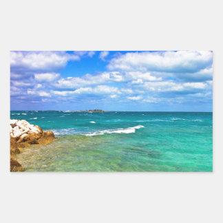 West End Bahamas magníficas Pegatina Rectangular