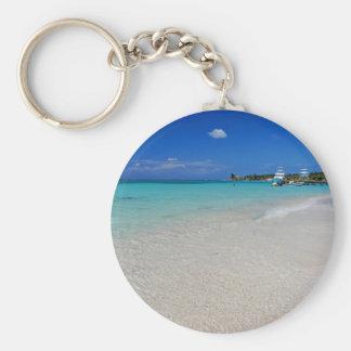 West End Beach.JPG Basic Round Button Keychain