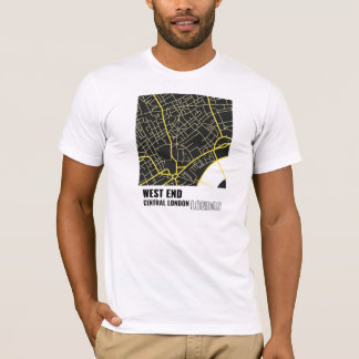 West End, Central London, London T-Shirt in Yellow