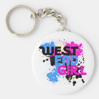 West End Girl Womens 80s Basic Round Button Keychain
