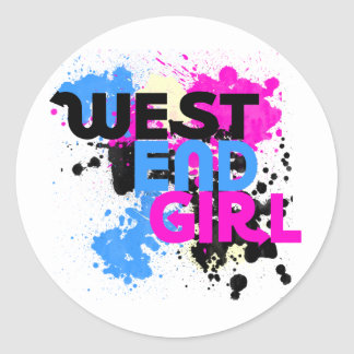 West End Girl Womens 80s Classic Round Sticker