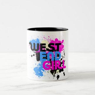 West End Girl Womens 80s Two-Tone Coffee Mug