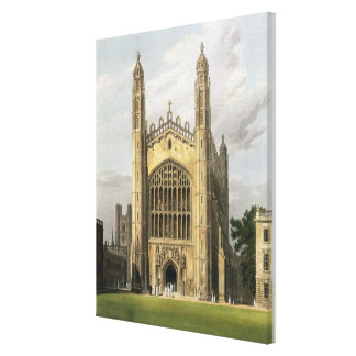 West End of King's College Chapel, Cambridge, from Canvas Print