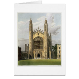 West End of King's College Chapel, Cambridge, from Card