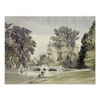 West End of the Serpentine, Kensington Gardens Poster