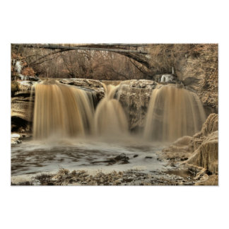 West Falls of the Black River, Elyria, Ohio Poster
