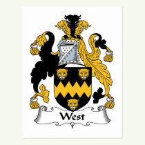 West Family Crest Postcard
