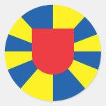 west flanders, Belgium Classic Round Sticker