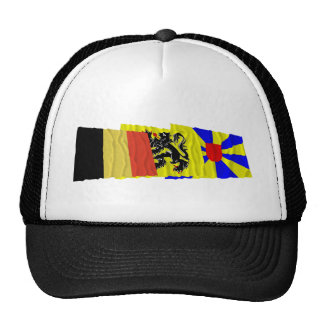 West Flanders Waving Flags Trio Trucker Hat