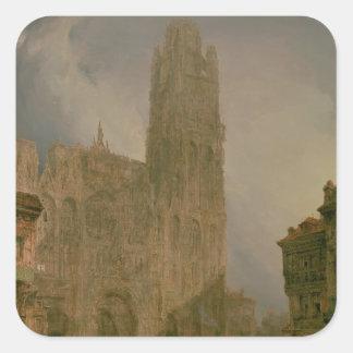 West Front of Notre Dame, Rouen Square Sticker
