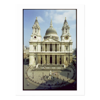 West front of St. Paul's Cathedral, designed by Si Postcard