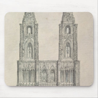 West Front of Strasbourg Cathedral Mouse Pad