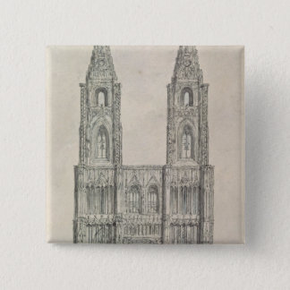 West Front of Strasbourg Cathedral Pinback Button