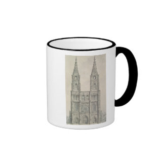 West Front of Strasbourg Cathedral Ringer Mug