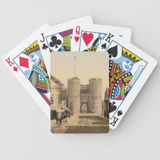 West Gate, Canterbury, Kent, England Bicycle Playing Cards