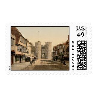 West Gate, Canterbury, Kent, England Stamp