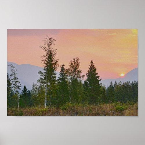 West Glacier, Montana, Sunrise Poster
