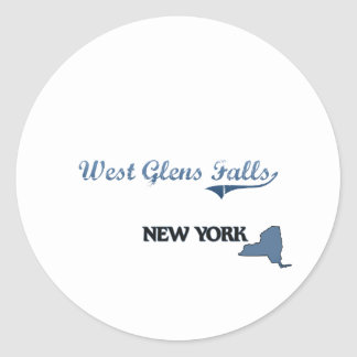 West Glens Falls New York City Classic Classic Round Sticker