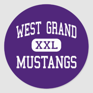 West Grand - Mustangs - High - Kremmling Colorado Classic Round Sticker