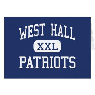 West Hall Patriots Middle Oakwood Georgia Greeting Card