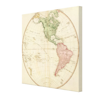 West Hemisphere map Gallery Wrap Canvas