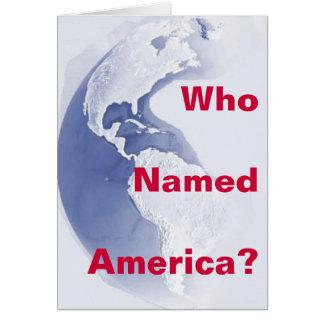 West-Hemisphere, Who Named America? - Customized Card