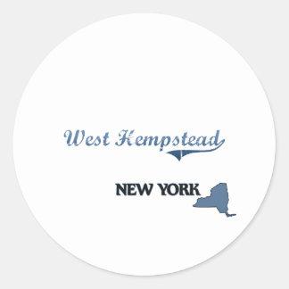 West Hempstead New York City Classic Round Stickers