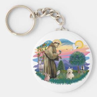West Highland Terrier  (#1) Basic Round Button Keychain