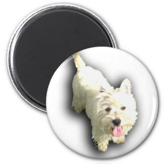 West Highland Terrier 2 Inch Round Magnet