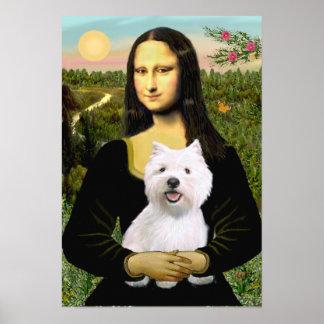 West Highland Terrier 2 - Moan Lisa Poster
