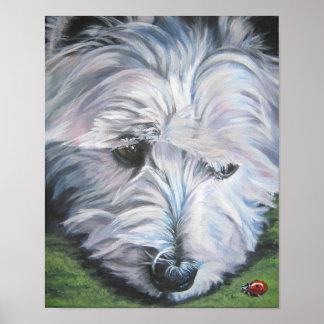 West Highland Terrier Art Print Westie
