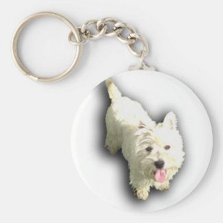 West Highland Terrier Basic Round Button Keychain