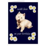 West Highland Terrier Birthday Greeting Card