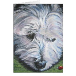 West Highland Terrier blank notecard