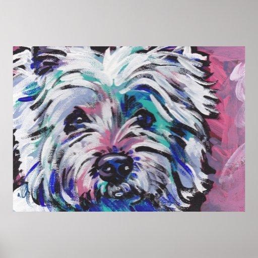 West Highland Terrier Bright Art Print Poster