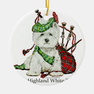 West Highland Terrier Ceramic Ornament