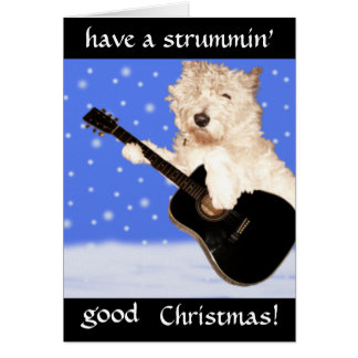 West Highland Terrier Christmas Greeting Card