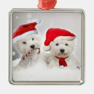 West Highland Terrier Christmas Metal Ornament