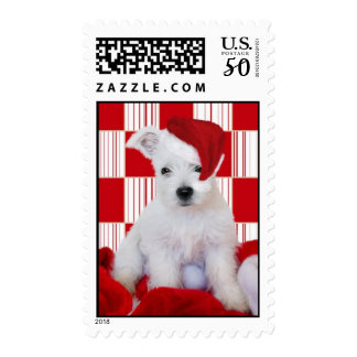 West Highland Terrier Christmas Postage Stamps