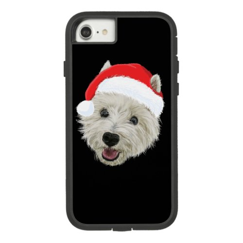 West Highland Terrier Christmas Santa Hat Case_Mate Tough Extreme iPhone 87 Case