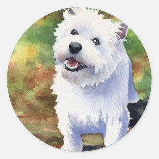 West Highland Terrier Classic Round Sticker
