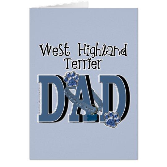 West Highland Terrier DAD Card