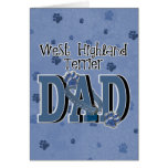 West Highland Terrier DAD Greeting Card