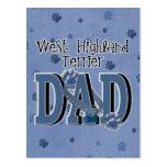 West Highland Terrier DAD Postcard