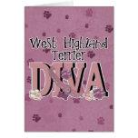 West Highland Terrier DIVA Greeting Card