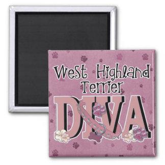 West Highland Terrier DIVA Magnets