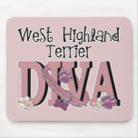 West Highland Terrier DIVA Mouse Pad