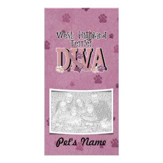 West Highland Terrier DIVA Customized Photo Card