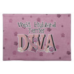 West Highland Terrier DIVA Placemats