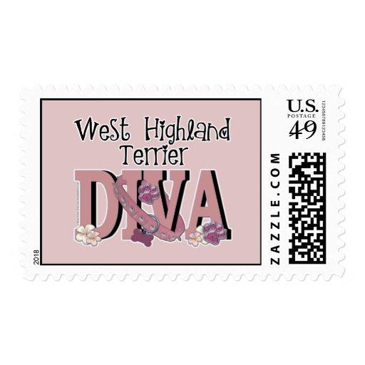 West Highland Terrier DIVA Postage Stamps